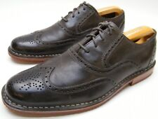 SEBAGO BRATTLE CHARCOAL GRAY LEATHER OXFORD WING TIP OXFORD DRESS SHOES SZ 7.5 D