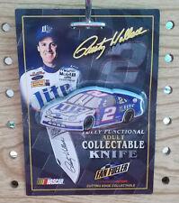 New listing NASCAR #2 Rusty Wallace Miller Lite Beer _ 1998 CAR SHAPED FOLDING POCKET KNIFE