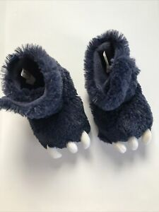 Size 7/8 Toddler Navy Blue Monster Claw Slippers