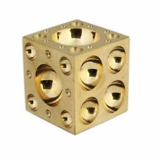 """SOLID BRASS DAPPING DOMING BLOCK 1.1/2 """"VICE TOOL 33mm JEWELLERS WATCH TOOL"""