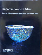 SOTHEBY'S Important Ancient Glass Collection British Rail Pension Fund 11-24-97