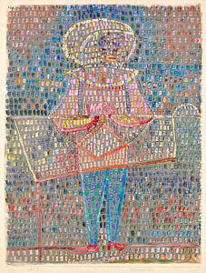 Boy in Fancy Dress by Paul Klee 1931 75cm x 56.7cm High Quality Art Print
