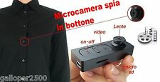 MICROCAMERA SPIA  in BOTTONE VIDEO FOTO SPY CAM NASCOSTA MICRO DVR AUDIO