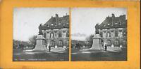 París Estatua Voltaire Foto Pl36 Estéreo Vintage Analógica c1900