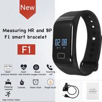 F1 Fitness Blood Pressure Oxygen Heart Rate Monitor Smart Watch Band Bracelet