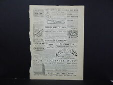 Illustrated London News Ads ONE Double-Sided Page c1888 S2#13 Defries' Lamps