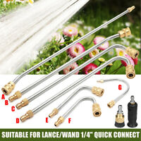 """High Pressure Washer Gutter Cleaner Rod/Nozzle for Lance/Wand 1/4"""" Quick Connect"""