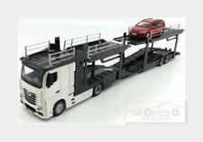 Mercedes Benz Actros 2 2545 Truck Car Transporter + Focus Sw BURAGO 1:43 BU31459