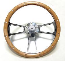 1948 -1959  Chevy Pick Up Trucks  Alderwood & Billet Steering Wheel & Adapter