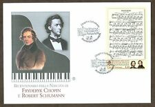 Vatican City Sc# 1448, Chopin and Schumann sheetlet, First Day Cover