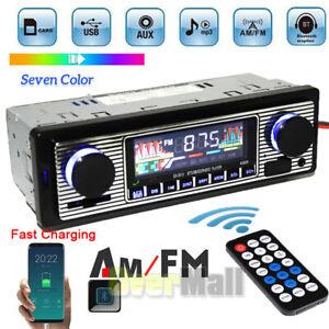 Single DIN Touch Screen Car Stereo Radio Bluetooth FM MP3 Player USB Head Unit