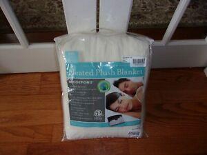 NIP Beddeford Electric Heated Micro Plush Cream King Blanket $330