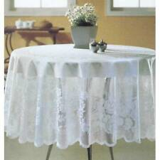 "Beige Luxury Lace Tablecloth Round 70"" 3 days shipping from USA"