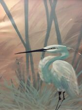 Lee Reynolds / Acrylic On Canvas / Crane In Sawgrass / Listed