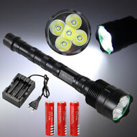 Rechargeable 10000LM 5X XML T6 LED Tactical Flashlight Light Torch Light 18650