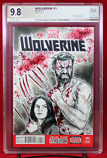 WOLVERINE #1 PGX (not CGC) 9.8 NM/MT LOGAN X-23 Orignal Sketch Cover TIM SHINN!!