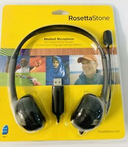 Rosetta Stone USB Headset Microphone Headphones Language Learn NEW SEALED