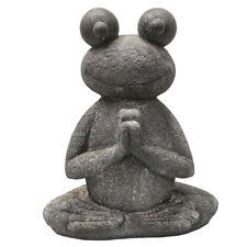 Svita Yoga Frosch Garten Figur Reiki Meditation Skulptur Deko Statue 50 cm groß