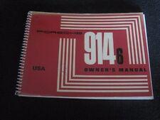 NEW NOS 1971 PORSCHE 914-6  USA OWNERS MANUAL BOOK DRIVERS HANDBOOK NLA