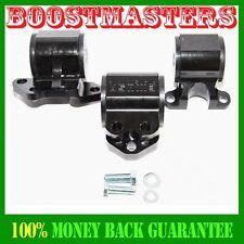 Black 92-95 Honda Civic 93-97 Honda Civic Del Sel Engine Torque Mount Kit EMUSA
