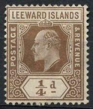 Mint Hinged Postage Leeward Islands Stamps