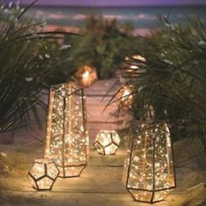 NEW Set of 2 LOFT LIVING LED Star String Lights 40 Warm White 10' Decorative NIP