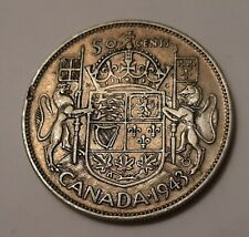 1943 Canada 50 Cents Coin (80% Silver) - King George VI