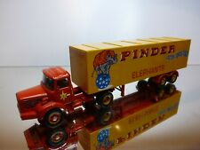 CORGI TOYS BERLIET TRUCK + TRAILER PINDER JEAN RICHARD CIRCUS - 1:50? VERY GOOD