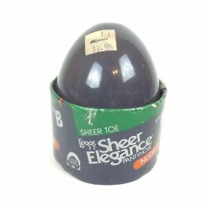 Leggs Sheer Elegance Size B Pantyhose Nude Beige Egg Made In USA