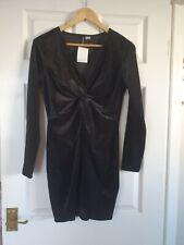 BNWT ladies H&M black sparkly dress size L aaprox UK 14