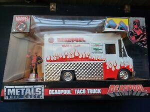 Marvel Deadpool & Taco Truck Die-cast Car, 1:24 Scale Vehicle, 2.75Collectib