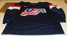 Team USA 2015 World Juniors Championship Small Hockey Jersey IIHF Blue