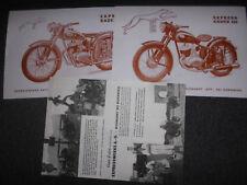 Prospekt sales brochure Express Radex 125 250 datos técnicos motocicleta Bike