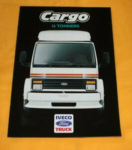 IVECO Ford Cargo 16 Tonners 1987 (GB) LKW Prospekt Truck Brochure Camion Catalog