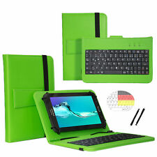 Keyboard Tablet Schutz Hülle für CAPTIVA Pad 10 3G Plus Tastatur Grün 10.1