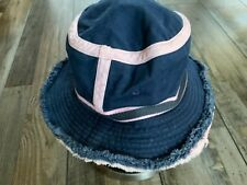 Juicy Couture Bucket Hat Blue Jean Pink Trim With Tag