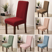 Chair Cover Removable Stretch Slipcovers Solid Dining Kitchen Seat Protector 1PC