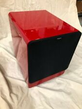 "Tangent Clarity Beautiful red lacquered high gloss 10"" powered  subwoofer new!"