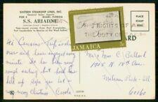 JAMAICA COMMERCIAL 1971 POSTCARD SS ARIADNE MIAMI FL USA kkm76671