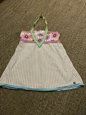 Matilda Jane 435 Tilt a Whirl Halter Dress Top Shirt size 10 y