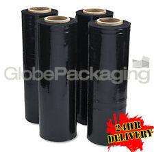 6 ROLLS OF BLACK PALLET STRETCH SHRINK WRAP - LTD OFFER