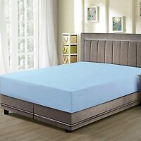 CC&DD- Fitted Sheet , Premier 1800 ,Luxury Super Silky Soft, Light blue