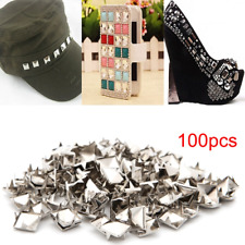 7/9/8/10mm Pyramid Square Studs Spikes Screw Spot Rivet Bag Shoes DIY Decoration