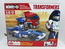 NEW Kreo Transformers Optimus Prime & Mirage w/ Racedriver 209pc B2308/B2305