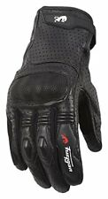 Gants noirs en peau de chèvre pour motocyclette femme