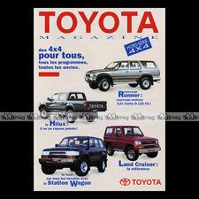 ★ TOYOTA 4X4 HILUX STATION LAND CRUISER KZJ RUNNER ★ 1994 - Dépliant PUB #BA16