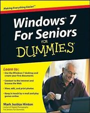 Windows 7 For Seniors For Dummies By Mark Justice Hinton Computer Laptop