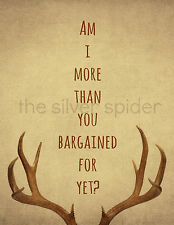 Am I More than You Bargained For Yet 8x10 Art Print Fall Out Boy antlers