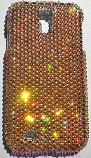 GOLD Crystal Rhinestone BLING Back Case for Galaxy S5 made w/ Swarovski Elements
