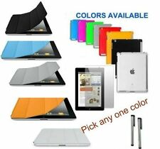 iPad 4 / 3 / 2  PU SMART Cover + Screen Protector + Companion TPU Case +2 Stylus